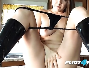 Crestfallen Pornstar together with Flirt4Free Whittle Becky Lesabre Tickles Her Tummy together with Pussy