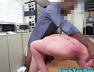 Tattooed amateur anal fucked by black cock