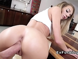 Teen spinner sucks bros cock under table
