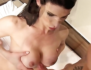 TRANS BELLA - Shemale Victoria Carvalho takes swan around fucking with the repair guy