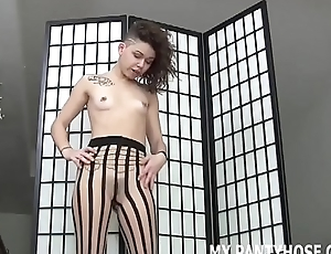I will make you cum with my sexy new hose JOI