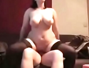 BBW with Succulent Knockers Rides and Swallows Like a Uncompromised Whore