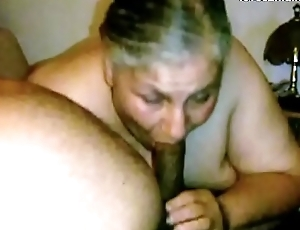 Granny Lynne Acquires Face Fucked with an increment of a Mouthful of Cum