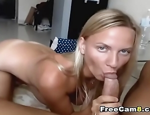 Busty Blonde Blowjob on For detail Big Cock