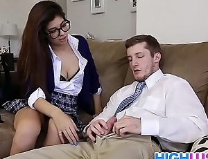 Schoolgirl Ava Taylor needs a ride home