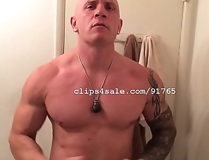 Muscle Fetish - Dom Flexing Video 1