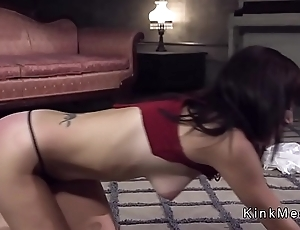 Step cousin bangs brunette with respect to bondage