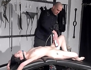 Gagged clumsy slaves sextoy domination and spanked blowjob of whipped submissiv