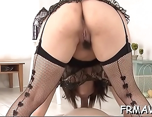 Naughty asian carry off pleasuring