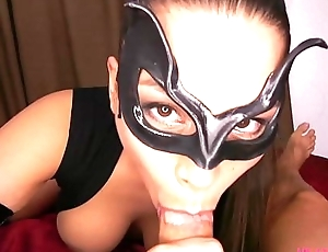 Meana Wolf - Catwoman and Batman - Cosplay &quot_Cum On My Mask&quot_