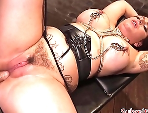 Inked sub slut with bigtits gets assfucked