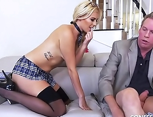 Summer Day Has The Hots For Her Tutor and Finally Seduces Him