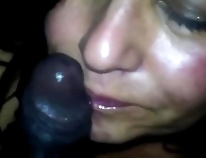 Wife Eating a Black Meat