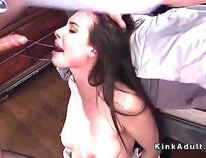 Pledged babe deep throat and anal fucked