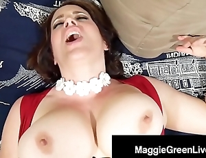 Horny Hottie Maggie Green Can't live without Her G-Spot Vibrator On High!