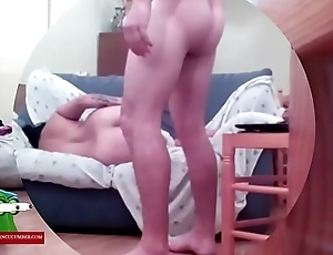 His wife is sleeping but he needs to put the cock in hot ADR0478