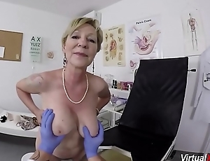 busty granny gets pov fucked overwrought her doctor