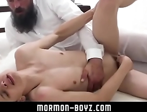 Beard daddy destroys tiny boy raw MORMON-BOYZ.COM