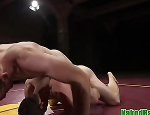 Wrestling stud punished with cock in indiscretion