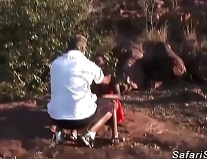chubby african babes first triple fuckfest