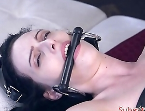 Flogged submissive slut receives assfucked deeply