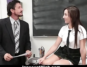 InnocentHigh - Cute Schoolgirl Jade Amber Fucked By Huge Cock