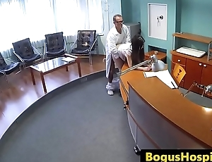 European amateur babe doggystyled by doctor