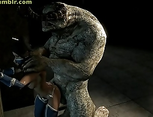 cassie cage and sonya fucked by monsters